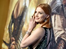 Jessica Chastain makes a statement on the Red Carpet in Piaget