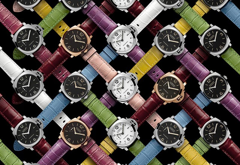 Officine Panerai has launched a collection of 11 coloured alligator straps to celebrate the summer.
