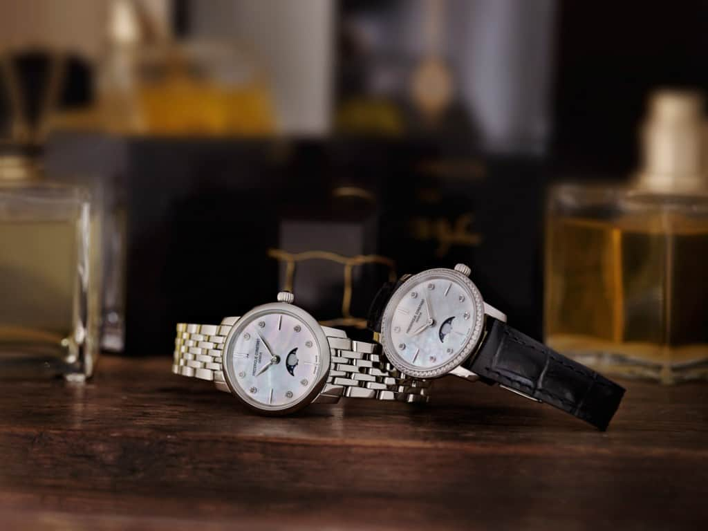 The Frederique Constant Slimline Moonphase Ladies Collection