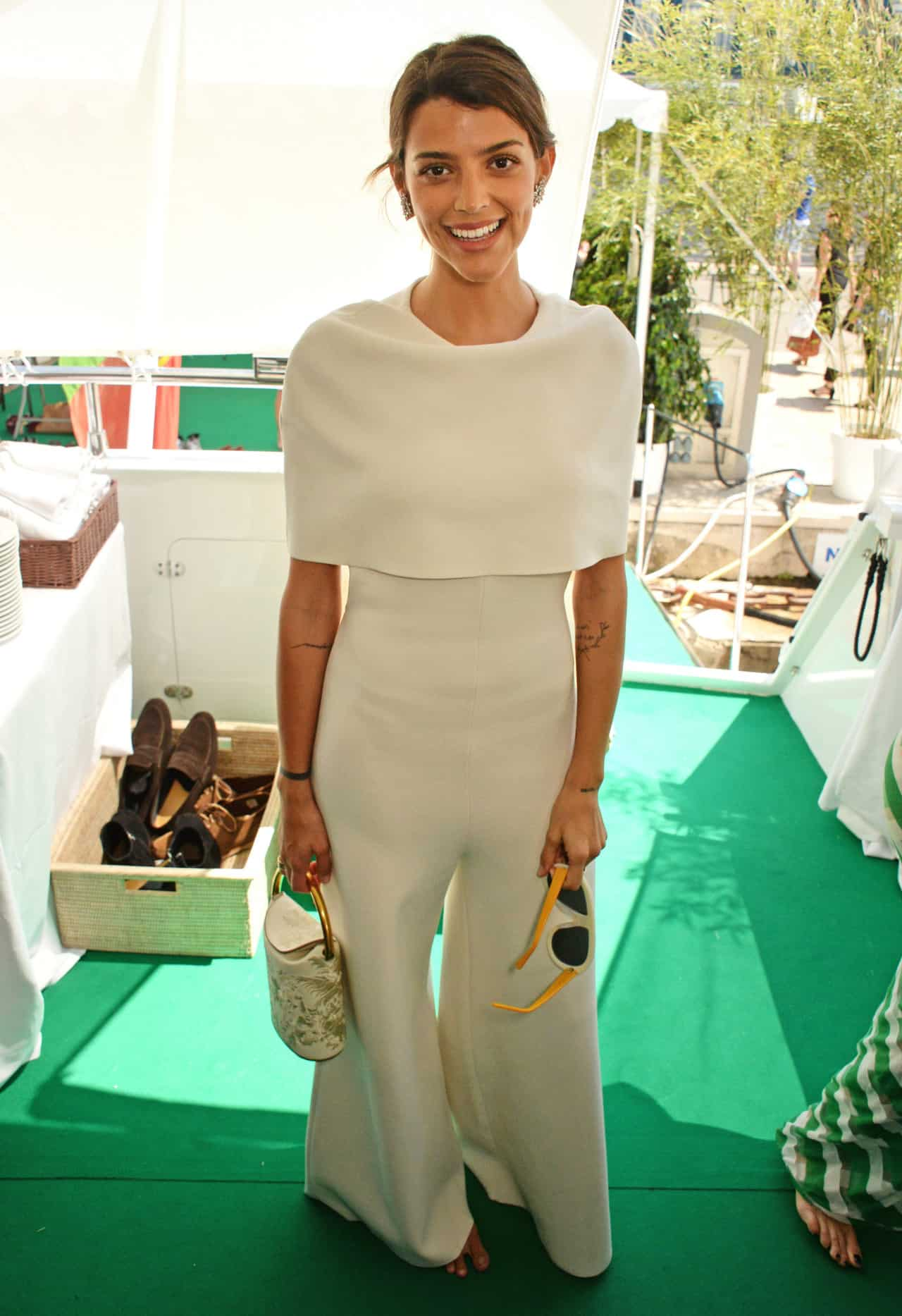 CANNES, FRANCE - MAY 14:  Calu Rivero attends a private lunch hosted by Colin Firth, Livia Firth and Chopard to celebrate the journey to sustainable luxury during the Cannes Film Festival 2016 aboard The Silver Reel on May 14, 2016 in Cannes, France.   Photo Credit: Dave Benett