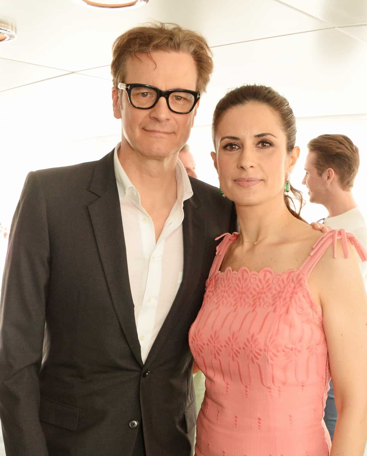 CANNES, FRANCE - MAY 14:  Colin Firth (L) and Livia Firth attend a private lunch which they hosted with Chopard to celebrate the journey to sustainable luxury during the Cannes Film Festival 2016 aboard The Silver Reel on May 14, 2016 in Cannes, France.   Photo Credit: Dave Benett