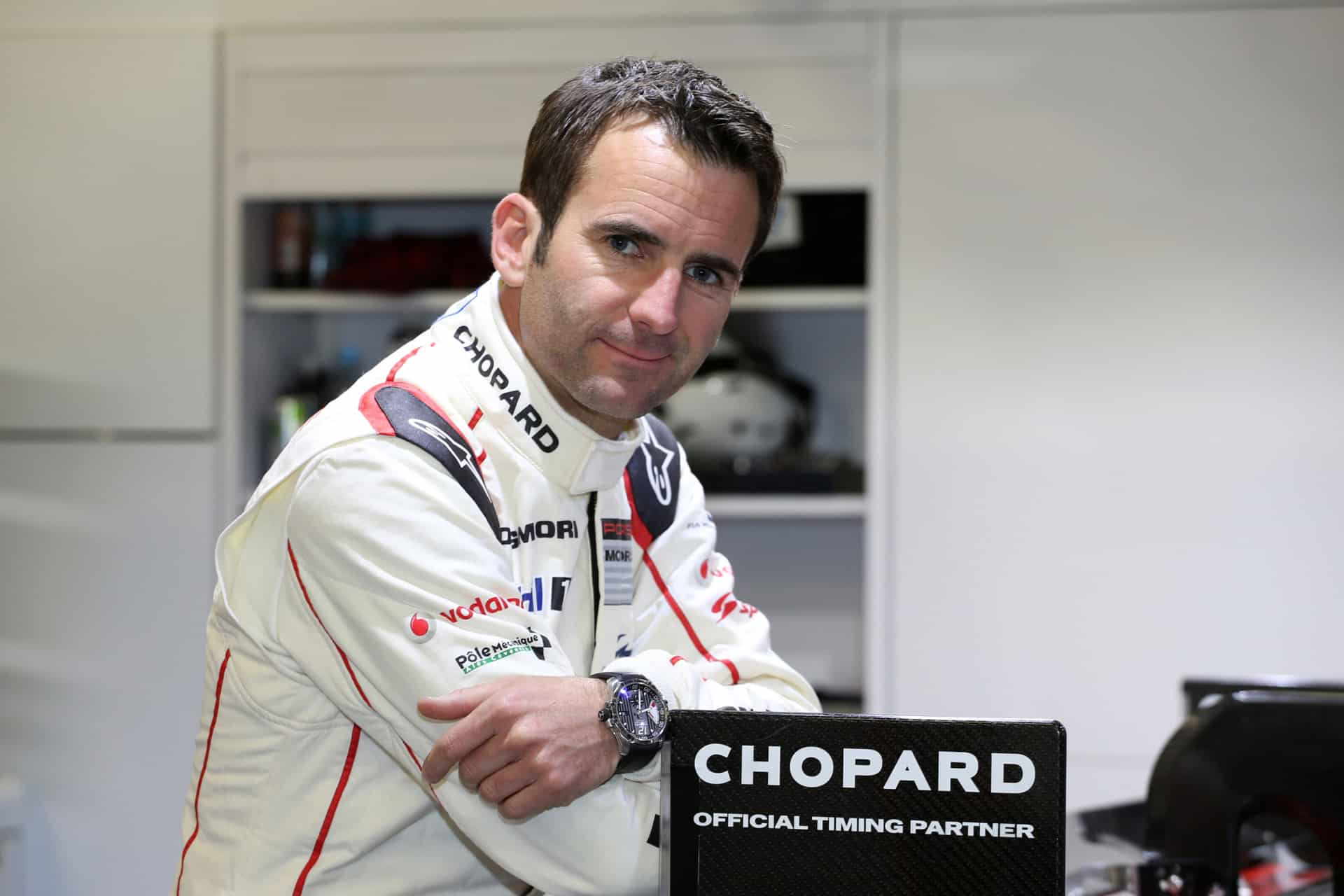 003 - Romain Dumas wearing his Superfast Watch