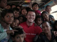Luke Evans visits Save the Children's education projects in India supported by Bulgari
