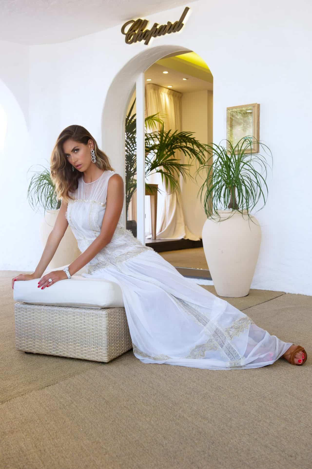 Melissa Satta at Chopard boutique in Porto Cervo