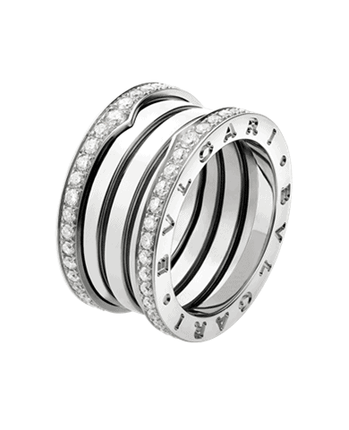 Replica-Bvlgari-B.ZERO1-4-band-ring-in-18K-white-gold-with-pave-diamonds-on-the-edges