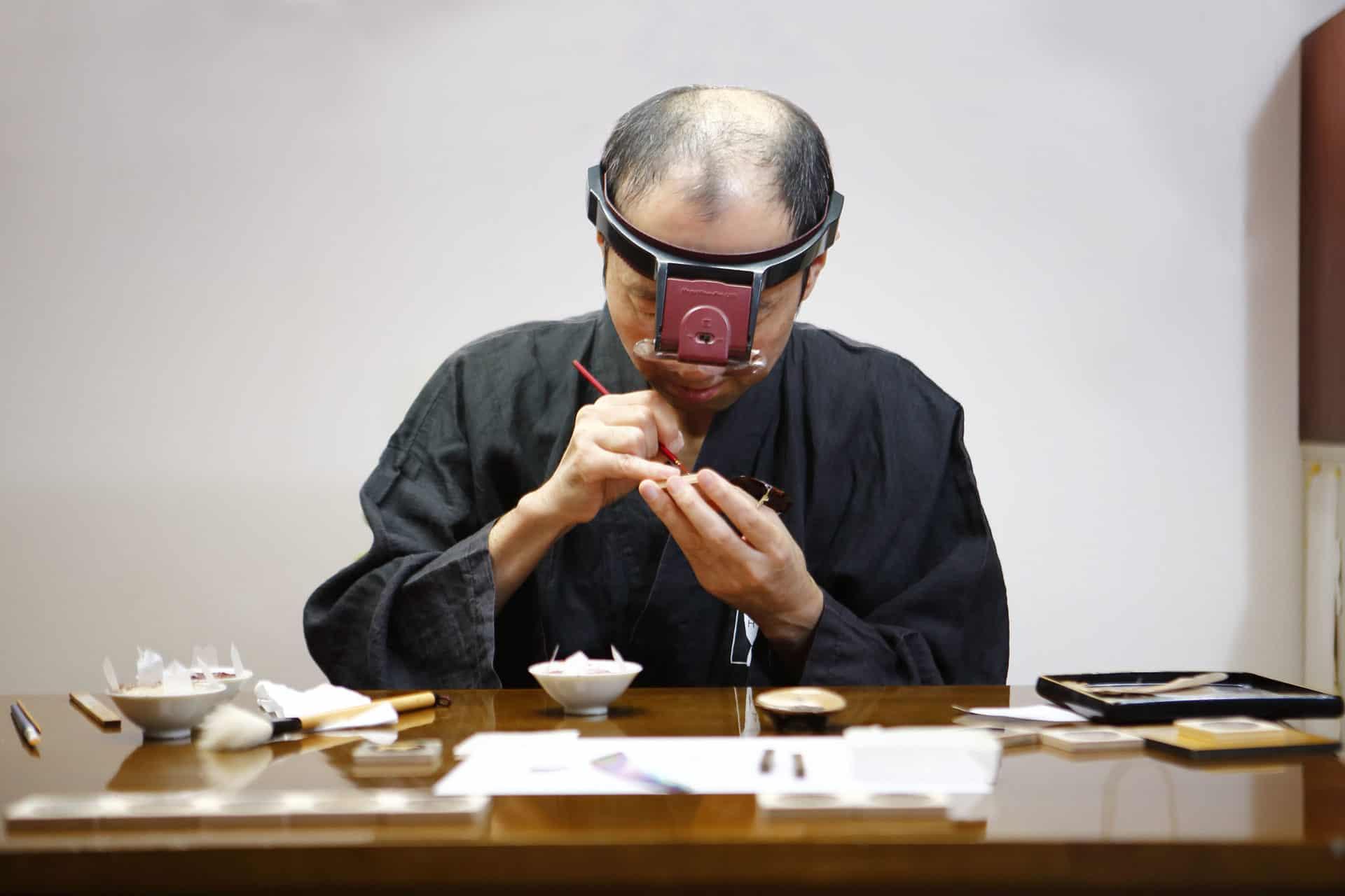 005 - Lacquer painting by Master Minori Koizumi