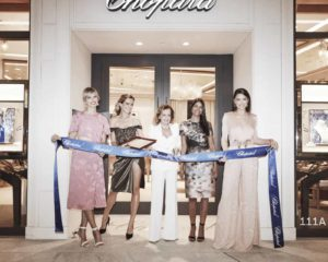 Karolina Kurkova, Petra Nemcova, Caroline Scheufele and Adriana Lima cutting the ribbon